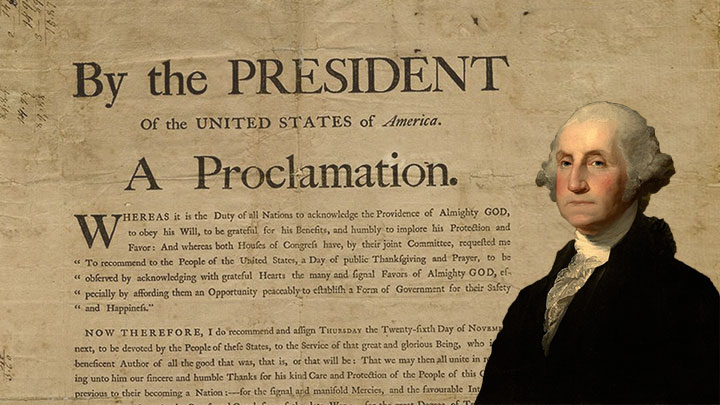President George Washington's Thanksgiving Proclamation